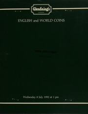 English and world coins, to be sold by auction, including an \Una and the Lion\ five-pounds, 1839; and six attractive five-guinea pieces of 1675, 1691, 1711, 1716, and 1746; [as well as] valuable South African krugerrands; [etc.] ... [07/08/1992]