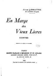 En marge des vieux livres: contes. 1.-2. série