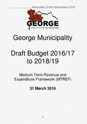 WC044 George Draft Budget 2016-17