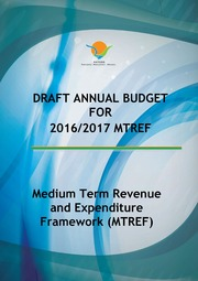 WC048 Knysna Draft Budget 2016-17