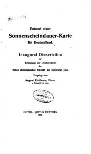 Entwurf einer Sonnenscheindauer-karte für Deutschland ..