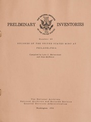 Preliminary Inventories Number 40: Records of the United States Mint at Philadelphia