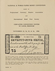 National & World Paper Money Convention