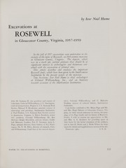 Excavations at Rosewell