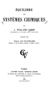 Eq́uilibre des systèmes chimiques