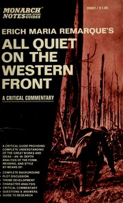 the importance of eriq maria remarques novel all quiet on the western front Description of document: ufos and related subjects: an annotated bibliography, lynn e catoe, prepared by the library of congress, july 1969.