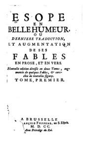 Esope En Belle Humeur Ou Derniere Traduction Et Augmentacion De