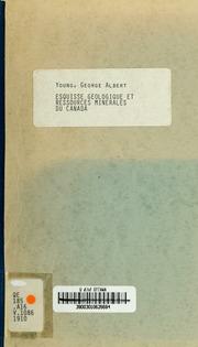 Esquisse géologique et ressources minérales du Canada