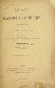 Essai d-une classification méthodique des trochilidés ou oiseaux-mouches