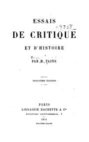 Essais de critique et d-histoire