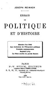 Essais de politique et d-histoire ...