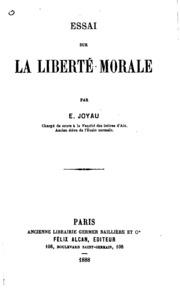 Essai sur la liberté morale