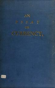 An essay on currency, written in August 1732.