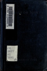 """alexander pope an essay on man notes Summary the subtitle of the first epistle is """"of the nature and state of man, with respect to the universe,"""" and this section deals with man's place in the cosmos."""