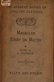essay on john milton macaulay thomas babington macaulay baron essay on milton