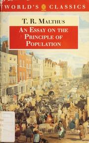 t r malthus essay on population