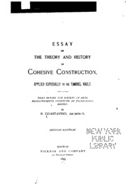 essay on the theory and history of cohesive construction applied  essay on the theory and history of cohesive construction applied especially