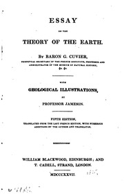 essay on the theory of the earth cuvier georges baron  essay on the theory of the earth