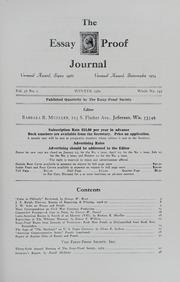 essay proof journal