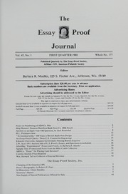 The Essay-Proof Journal