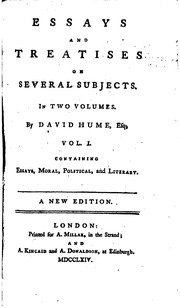 david hume essays moral and political summary