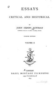 newman essays critical and historical Noté 00/5 retrouvez essays, critical and historical et des millions de livres en stock sur amazonfr achetez neuf ou d'occasion.