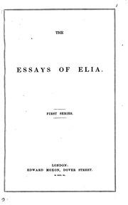 essays of elia text