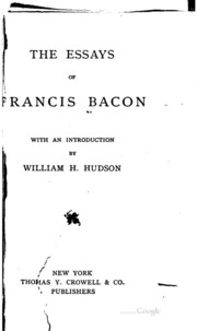 Francis Bacon | Francis Bacon s Essays
