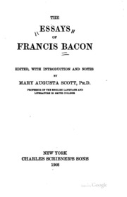 on revenge an essay by francis bacon