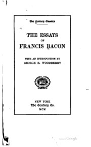 "francis bacon essay of marriage and single life analysis Of studies by francis bacon com to avail a study pack containing analysis of six francis bacon and ""of marriage and single life"" if i go for."