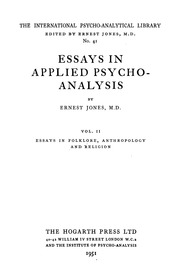 essays applied psychoanalysis