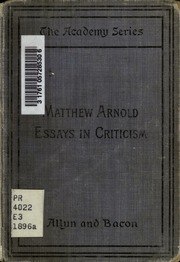 essays in criticism the study of poetry john keats wordsworth essays in criticism the study of poetry john keats wordsworth edited by susan s sheridan arnold matthew 1822 1888 streaming