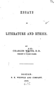 little essays in literature and life richard burton  essays in literature and ethics