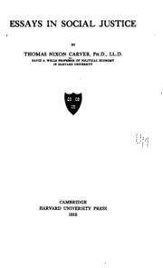 essays in social justice thomas nixon carver essays in social justice thomas nixon carver streaming internet archive