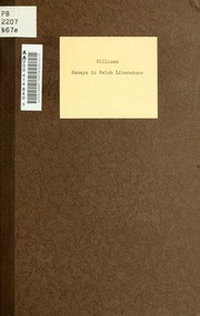 welsh essayist Cultural backgrounds of donor, judge and essayist gave rise to different views  and  justice and equality, and the conservation of welsh salmon1 in 1844, the .