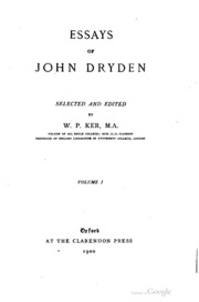 dryden an essay of dramatic poesy analysis