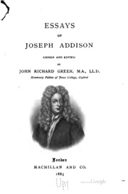 essay by joseph addison Essay on friendship by joseph addison us-based service has hired native writers with graduate degrees, capable of completing all types of papers on any academic level.