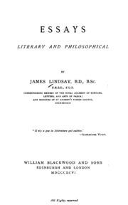 essay literary philosophical