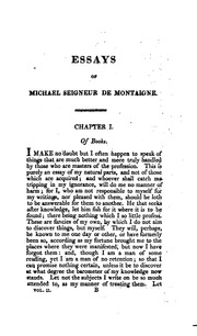 the complete works of michael de montaigne comprising the essays  vol 2 the essays of michael de montaigne