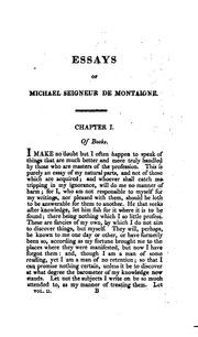 Montaigne essays pdf