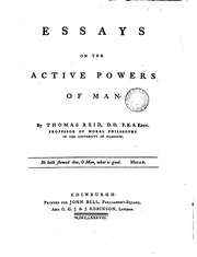Essays active powers human mind