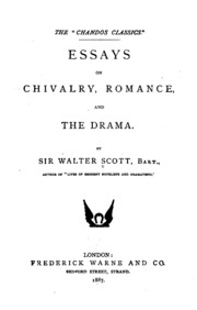 scott essay on romance Sir walter scott's review of emma [blogger's  sir walter scott on jane  austen  appearance, the novel was the legitimate child of the romance and.