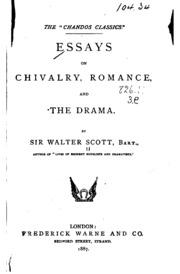 walter scott essay on romance