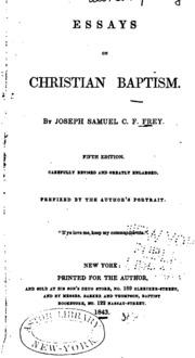 christian essays wilks samuel charles from old  essays on christian baptism