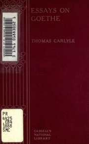 goethe essays Faust essays: over 180,000 faust essays, faust term papers, faust research paper, book reports 184 990 essays, term and research papers available for unlimited access.