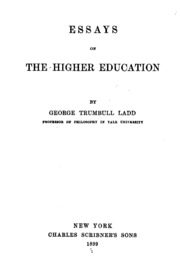Essays on higher education