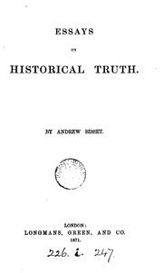 Truth essays