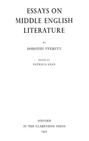 essays on middle english literature everett dorothy  essays on middle english literature everett dorothy streaming internet archive