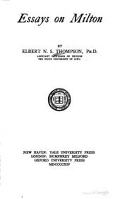 milton essays