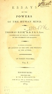 essays active powers human mind Essays on the powers of the human mind by thomas reid to which is prefixed an account of the life and writings of the author v1.